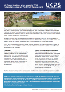 Trent Park UKPS case study